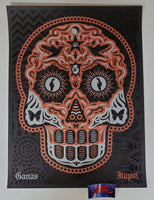 Ernesto Yerena Yaqui Day of the Dead Art Print Silver Turquoise Variant 2020
