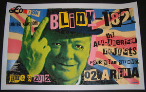 Frank Kozik Blink 182 Poster London 2012 Artist Edition S/N