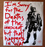 Free Humanity Boba Fett Painter Street Art Print 2012 Hand Embellished S/N