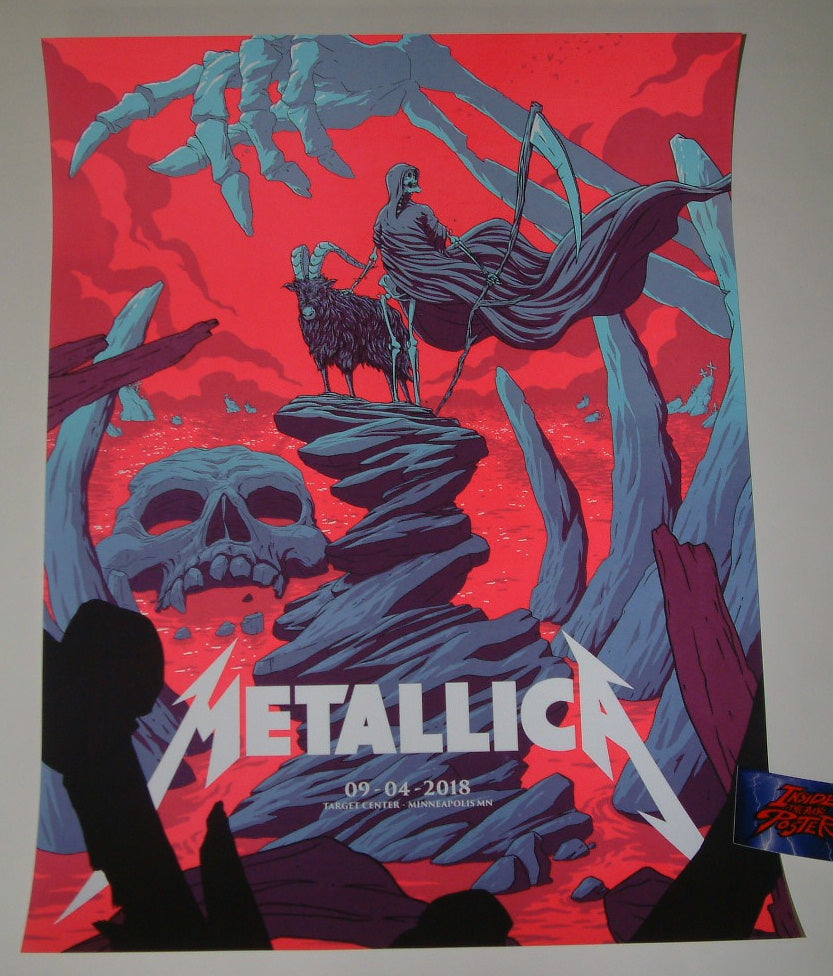 Florey Metallica Minneapolis VIP Poster Artist Proof 2018