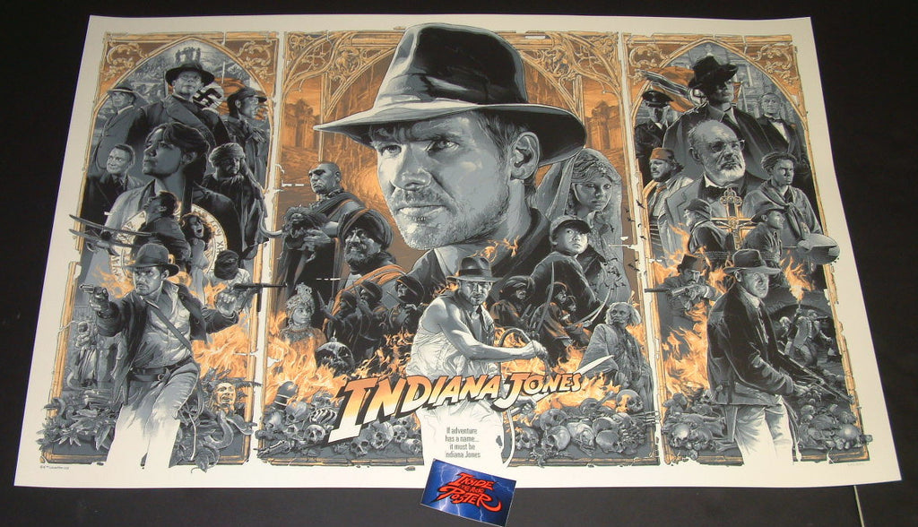 Gabz Indiana Jones Trilogy Movie Poster Variant 2018