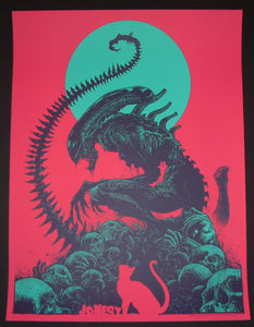Godmachine Jonesy Alien Movie Poster Pink Variant 2016