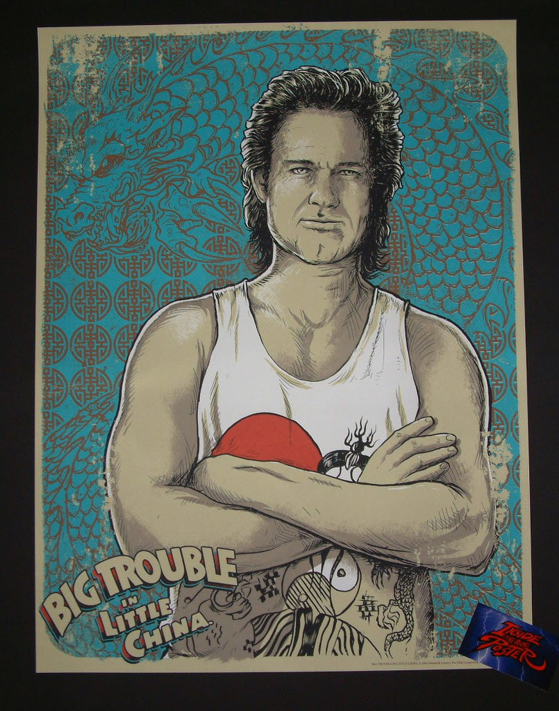 Godmachine Big Trouble in Little China Jack Burton Movie Art Print 2015