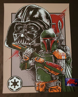 Godmachine Boba Fett Art Print Darth Vader Star Wars 2014
