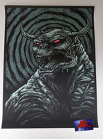 Godmachine OK Who Brought The Dog Art Print Glow in the Dark Variant 2014