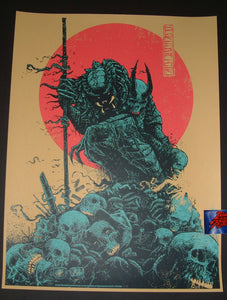 Godmachine Hunter Predator Movie Poster Blue Variant 2017