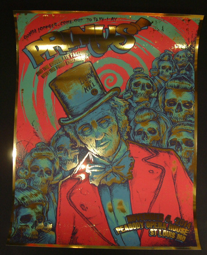 Godmachine Primus Poster St Louis Golden Ticket Variant 2014 Artist Edition