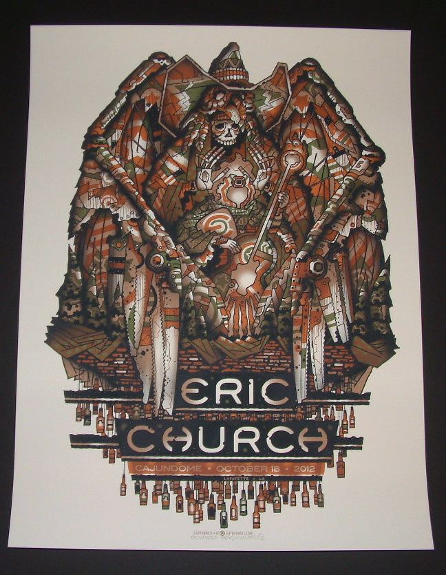 Guy Burwell Eric Church Poster Lafayette Louisina 2012 Artist Edition S/N