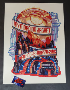Guy Burwell My Morning Jacket Red Rocks Morrison Poster Artist Edition 2016