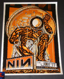 Guy Burwell Nine Inch Nails Poster Las Vegas Opal Metallic Variant 2018 Artist Edition