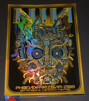 Guy Burwell Nine Inch Nails Poster Phoenix Foil Variant 2018 Artist Edition