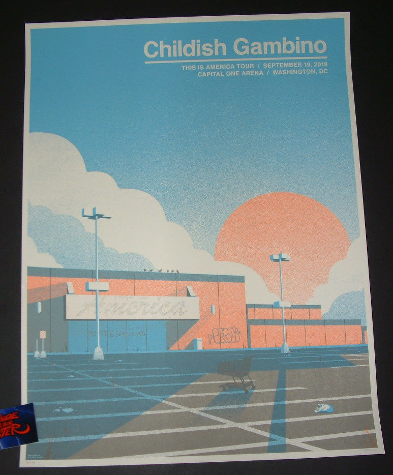 The Half and Half Childish Gambino Poster Washington Artist Edition 2018