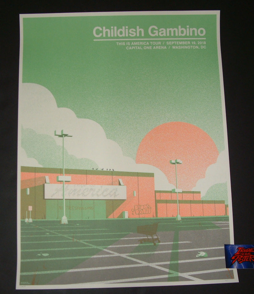 Half and Half Childish Gambino Poster Washington Artist Edition Variant 2018