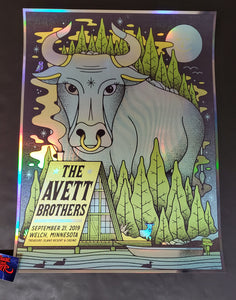 Half and Half Avett Brothers Welch Poster Foil Variant 2019