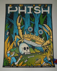 The Half and Half Phish Columbia Poster Artist Edition 2018 Night One