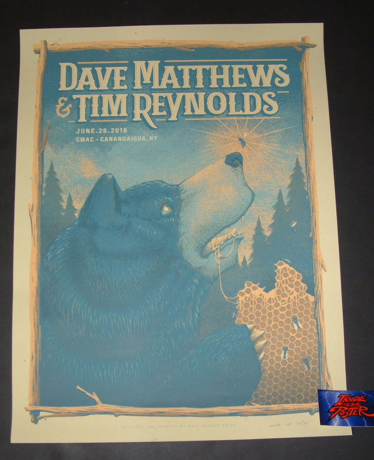 Half Hazard Press Dave Matthews Tim Reynolds Poster Canandaigua Artist Edition 2018