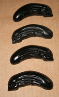 Hand Made Alien Xenomorph Heads Glow in the Dark Resin Toy Figures