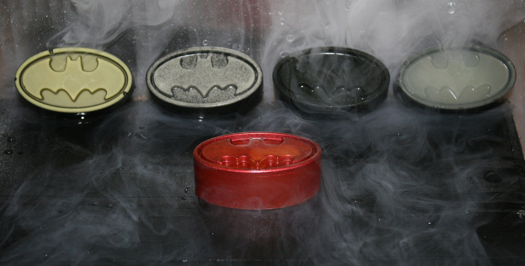 Hand Made Batman Bat Symbol Glow in the Dark Resin Toy Figures
