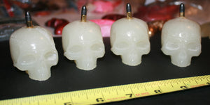 Icy Skullz Head Like A Hole Bullet Hand Made Glow In The Dark Resin Figures