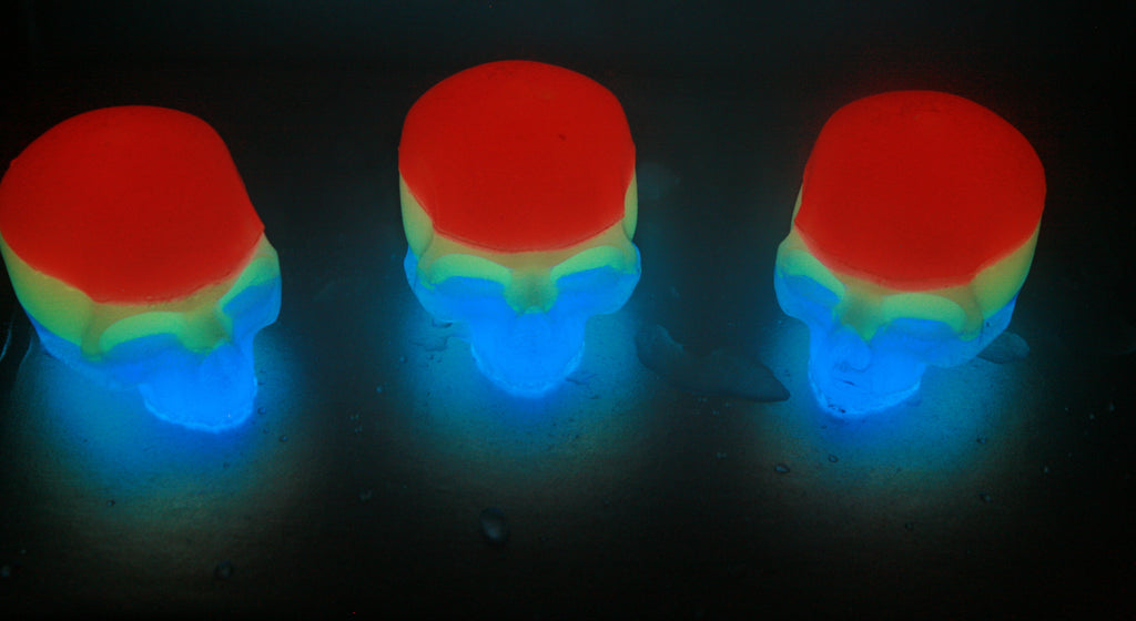 Icy Skullz Grateful Dead Glow in the Dark Hand Made Resin Figures