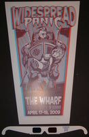Haywood Thomas Widespread Panic Orange Beach 3-D Poster S/N
