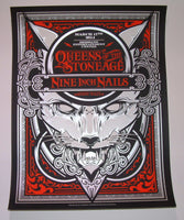 Hydro 74 Queens of the Stone Age Nine Inch Nails Brisbane Poster 2014