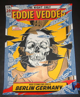 Ian Williams Eddie Vedder Berlin Germany Poster 2019