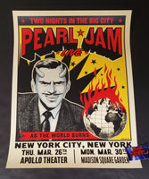 Ian Williams Pearl Jam New York Poster 2020