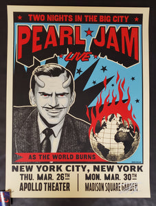 Ian Williams Pearl Jam New York Poster Artist Edition 2020
