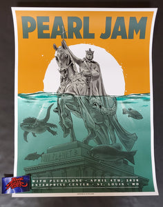 Ian Williams Pearl Jam St Louis Poster 2020