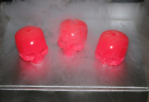 Icy Skullz Electric Cotton Candy Hand Made Glow In The Dark Resin Figures