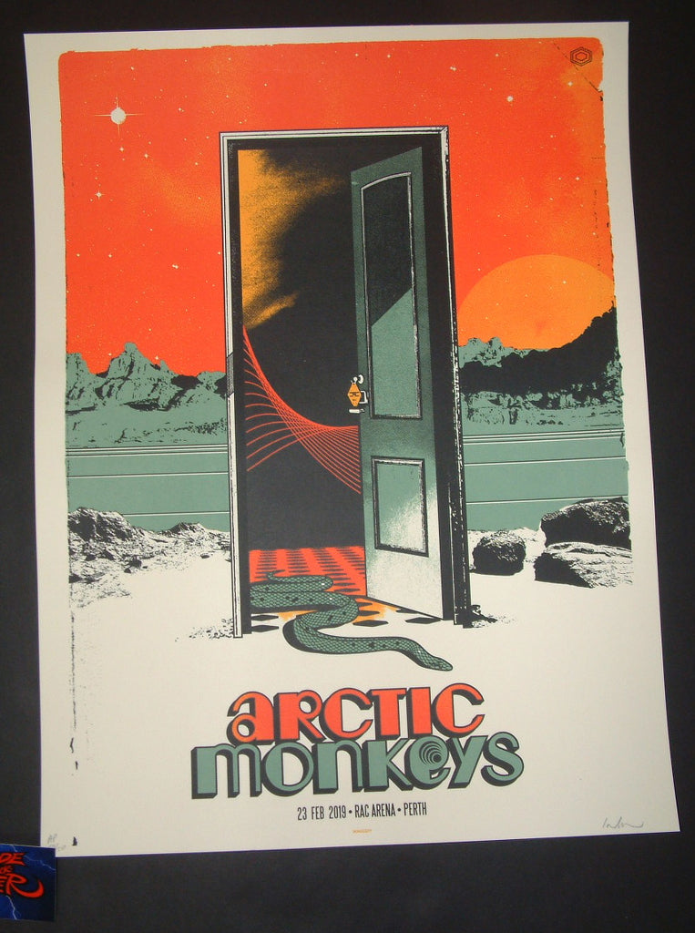 Ivan Minsloff Arctic Monkeys Perth Poster Artist Edition 2019