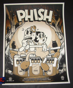 Ivan Minsloff Phish Las Vegas Poster Artist Edition 2018 Glows in the Dark