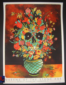 Ivan Minsloff Queens of the Stone Age Poster Philadelphia 2017 Artist Edition