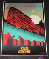 Ivan Minsloff Ryan Adams Red Rocks Poster Artist Edition 2018