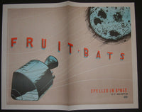 Jay Ryan Fruit Bats Spelled in Bones Promo Poster Newsprint Edition 2005