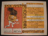 Jay Ryan Red Polyester Festival Chicago Poster S/N 1998