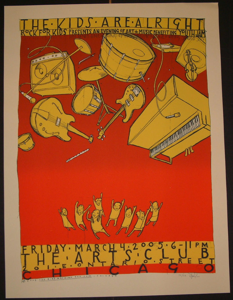 Jay Ryan Rock For Kids Benefit Chicago Poster S/N 2005