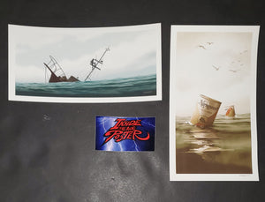 JC Richard Jaws Final Battle Narragansett Beer Variant Post Card Set 2020