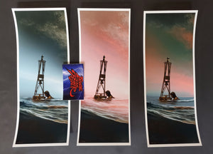 JC Richard Jaws The Buoy Handbill Art Print Set Amity '74 2020