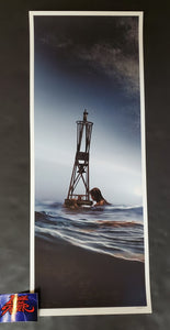 JC Richard Jaws The Buoy Art Print Blue Variant 2020