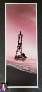 JC Richard Jaws The Buoy Art Print Sunset Variant 2020
