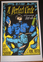 Jermaine Rogers A Perfect Circle Houston Poster Signed 2000