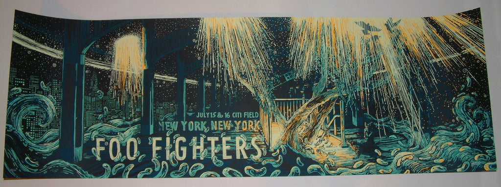 James Eads Foo Fighters New York Poster 2015 Artist Edition