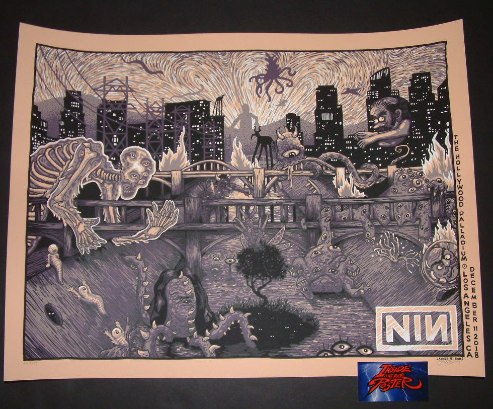 James Eads Nine Inch Nails Los Angeles Poster Artist Edition 2018