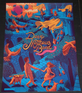 James Flames Dave Matthews Band Poster Cincinnati 2016 Artist Edition