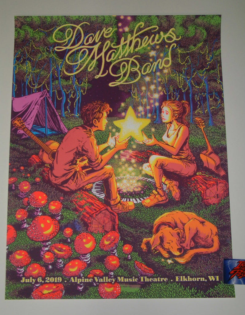 James Flames Dave Matthews Band East Troy Poster Alpine Valley Artist Edition 2019