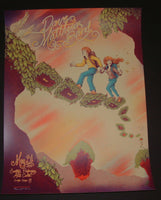 James Flames Dave Matthews Band Poster Saratoga Springs 2014 Artist Edition
