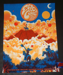 James Flames Eric Church Greensboro Chief Pop Up Shop Poster Artist Edition 2019