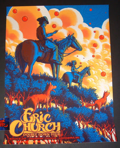 James Flames Eric Church Greensboro Poster Artist Edition 2019